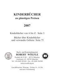 KINDERBÜCHER 2007 - Antiquariat Robert Wölfle