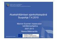 Maaseudun kehittämisohjelma - Etelä-Pohjanmaan liitto
