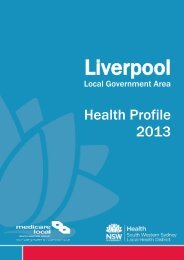 Liverpool - South Western Sydney Local Health District - Home