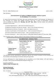 Ex-Ahmedabad(T+1)Parker 5g - National Spot Exchange Limited