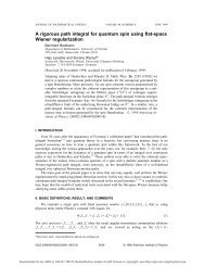 A rigorous path integral for quantum spin using flat-space Wiener ...