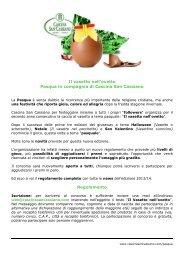 Regolamento - Cascina San Cassiano S.p.a.