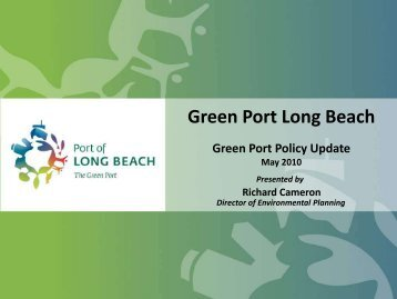 Port of Long Beach Green Ports Policy - Port Compliance.org