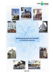 Gestaltungssatzung für die Innenstadt der Stadt Menden (Sauerland