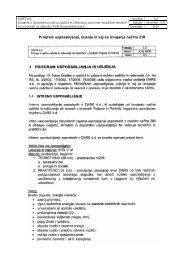 Program usposabljanja, urjenja in vaj za izvajanje načrta ZiR - Dars