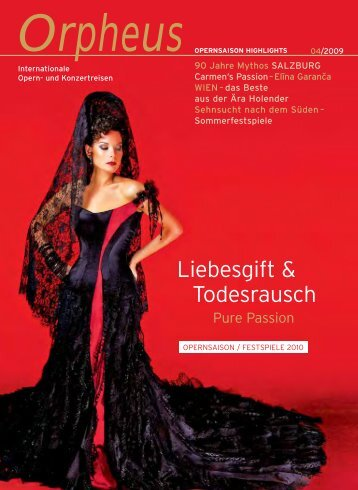 Liebesgift & Todesrausch - Orpheus - internationale Opern