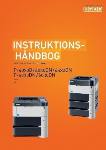 Ændring af standardindstillinger for printer - Utax
