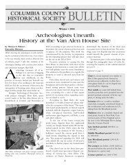CCHS Bulletin Winter 2004 - Columbia County Historical Society