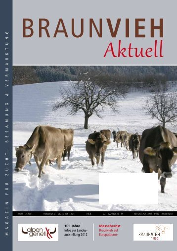 Ma gaz I n Für z ucht , B E sa M ung & v E r M arktung - Braunvieh Tirol