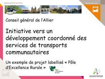 Coordination des services de transports communautaires ... - CoTITA