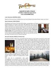 MARCHÉS DE NOËL À PRAGUE 8 JOURS / 6 ... - Voyages à rabais