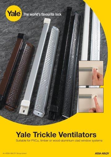 Yale Trickle Ventilators - Yale UK