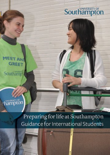 Preparing for life at Southampton Guidance for International Students