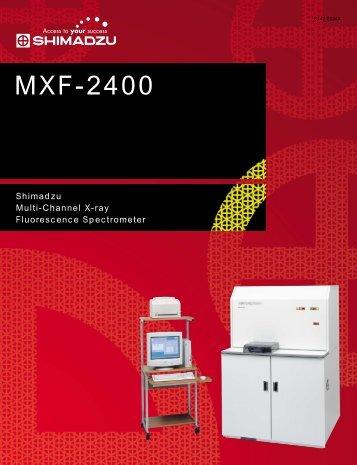 MXF-2400 - Shimadzu do Brasil Comércio