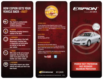 hoW EspIon GEts YoUr vEhIClE BaCk – fast! - Lojack