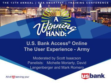 U.S. Bank Access® Online The User Experience - Army