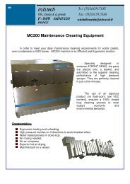 MC200 Maintenance Cleaning Equipment