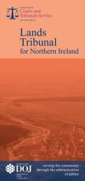 Lands Tribunal for Northern Ireland - Northern Ireland Court Service ...