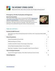 Emergency Stroke Evaluation & Diagnosis - Internet Stroke Center