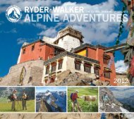 WALKER ThE GLobAL TREKKinG SpEciALiSTS ...  - Ryder-Walker