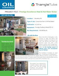 Prestige Excellence Heat & Hot Water Boiler - Triangle Tube