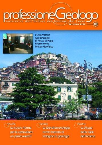 Leggi tutto... - Ordine dei Geologi del Lazio