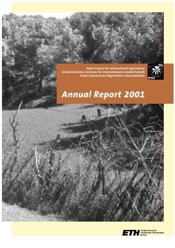 Annual Report 2001 - ETH - North-South Centre North-South Centre