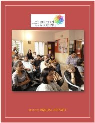 2011-12 | ANNUAL REPORT - Centre for Internet and Society