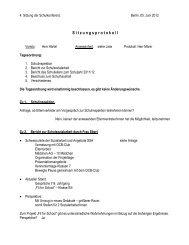 S i t z u n g s p r o t o k o l l - Philipp-Reis-Schule