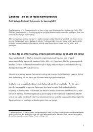 R. Mulvad: Læsning – en del af faget hjemkundskab - Viden om ...