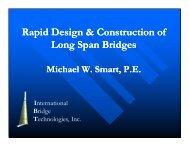 Rapid Design & Construction of Long Span Bridges - Ferguson ...