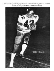 1968 team - Glendale High School