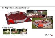 Montagevejledning, Ikadan Panna Bane - Poul Holm Sport