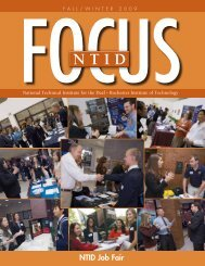 NTID Job Fair - National Technical Institute for the Deaf - Rochester ...