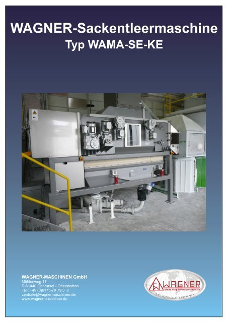 Typ WAMA-SE-KE - WAGNER Maschinen GmbH