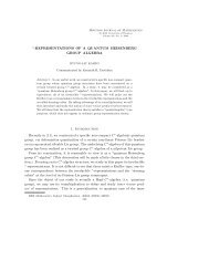 ∗-REPRESENTATIONS OF A QUANTUM HEISENBERG GROUP ...