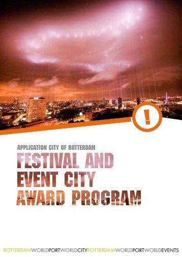 Application City of rotterdam - International Festivals & Events ...