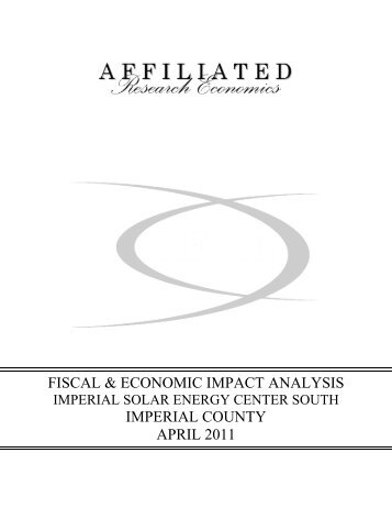 fiscal & economic impact analysis imperial county april 2011