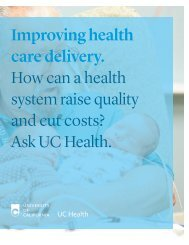 Improving health care delivery. - University of California