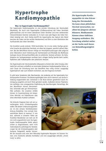 Hypertrophe Kardiomyopathie - Medicines for Mankind