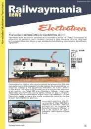 Novedades Electrotren Septiembre 2003 - Railwaymania.com