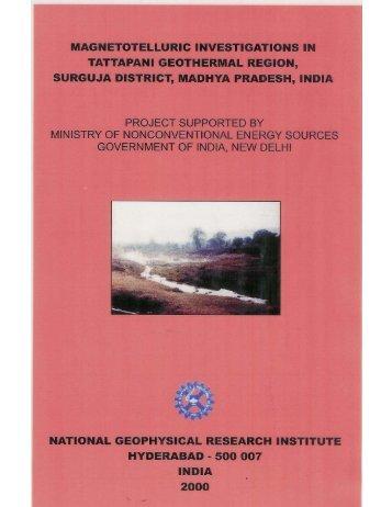 Tattapani report 2000 - Tharinarayana.net