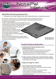 NotePal Inifinite product sheet.cdr - Cooler Master