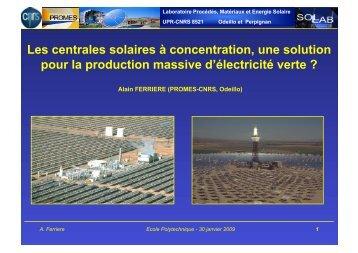 Les centrales solaires à concentration (pdf 20,9 Mo) - Ecole ...