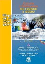 Informazioni sulla giornata del 21 settembre - Grande Oriente d'Italia