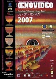 Œnovidéo 2007 - Festival international de films sur la vigne et le vin ...