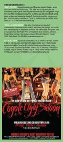 CALENDAR OF EVENTS/DINING & NIGHTLIFE ... - Visit Milwaukee - Page 7