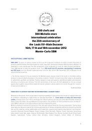 200 chefs and 300 Michelin stars international ... - Alain Ducasse
