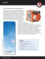 Data Acquisition and Storage Unit - L-3 Aviation Recorders
