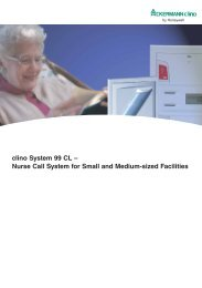 clino System 99 CL – Nurse Call System for Small and ... - Honeywell